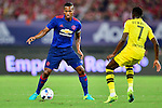 Manchester United winger Antonio Valencia (l) and Borussia Dortmund striker Ousmane Dembele (r) during the International Champions Cup China 2016, match between Manchester United vs Borussia  Dortmund on 22 July 2016 held at the Shanghai Stadium in Shanghai, China. Photo by Marcio Machado / Power Sport Images