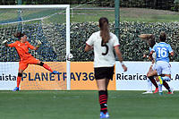 11th September 2021;  Mirko Fersini Stadium, Rome, Italy ; Serie A Womens championship football, Lazio versus Milan ; Valentina Giacinti of Milan shoots and scores her goal
