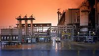 The exterior of an ALCOA aluminum ore processing plant. Arkansas.