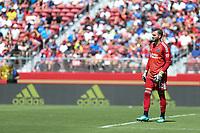 Santa Clara, CA - Sunday July 22, 2018: Matt Bersano during a friendly match between the San Jose Earthquakes and Manchester United FC at Levi's Stadium.