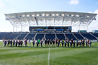Chester, PA - Sunday December 10, 2017: Stanford University, Indiana University during the NCAA 2017 Men's College Cup championship match between the Stanford Cardinal and the Indiana Hoosiers at Talen Energy Stadium.