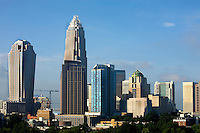 Uptown skyline view in the daytime in Charlotte, N.C.