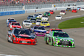 2017 NASCAR Xfinity Series - Boyd Gaming 300<br /> Las Vegas Motor Speedway - Las Vegas, NV USA<br /> Saturday 11 March 2017<br /> Daniel Suarez, Interstate Batteries Toyota Camry and Austin Dillon<br /> World Copyright: Russell LaBounty/LAT Images<br /> ref: Digital Image 17LAS1rl_2816