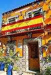 Spain, Costa Blanca, Alicante: Colourful Houses | Spanien, Costa Blanca, Alicante: bunte Hausfassaden