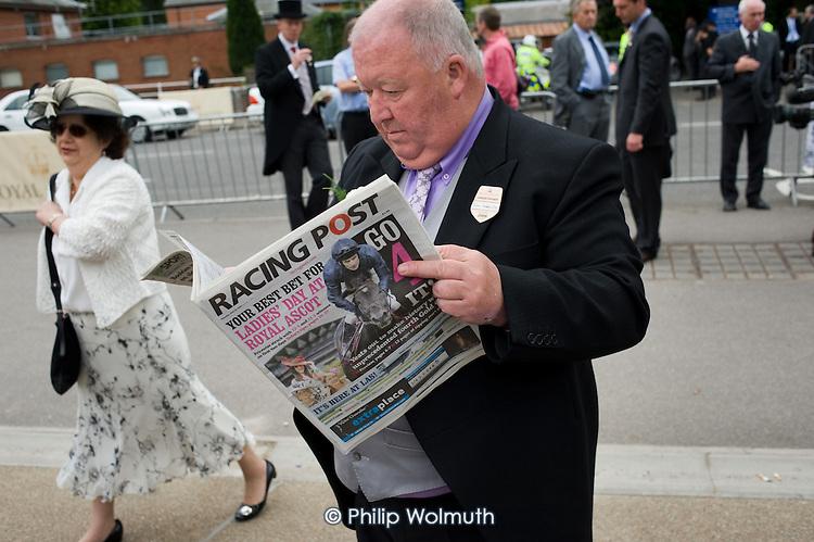 Irish horse-owner John Duddy outside the Royal Enclosure at Ascot racecourse.
