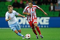 MELBOURNE, AUSTRALIA - FEBRUARY 12: Josip Skoko of the Heart in action during round 27 A-League match between the Melbourne Heart and Sydney FC at AAMI Park on February 12, 2011 in Melbourne, Australia. (Photo Sydney Low / AsteriskImages.com)