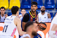 11th April 2021; Palau Blaugrana, Barcelona, Catalonia, Spain; Liga ACB Basketball, Barcelona versus Real Madrid; 0 Davis  of Barcelona during the Liga Endesa match