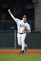Stetson Hatters third baseman Colton Lightner (4) during a game against the Siena Saints on February 23, 2016 at Melching Field at Conrad Park in DeLand, Florida.  Stetson defeated Siena 5-3.  (Mike Janes/Four Seam Images)