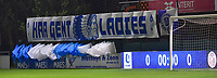 illustration picture of the tifo from the AA Gent Ladies fans  pictured during a female soccer game between AA Gent Ladies and SV Zulte-Waregem on the fifth matchday in the 2021 - 2022 season of Belgian Scooore Womens Super League , friday 1 October 2021  in Oostakker , Belgium . PHOTO SPORTPIX | STIJN AUDOOREN