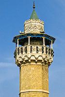 Tunis, Tunisia.  Minaret of the Youssef Dey Mosque, first Octagonal Minaret in Tunis ((1616).