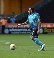 Pictured: Saturday 30 July 2016<br /> Re: Wolverhampton Wanderers v Swansea City FC, pre-season friendly at the Molineux Stadium, England, UK<br /> Swansea's skipper Leon Britton
