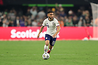 LAS VEGAS, NV - AUGUST 1: Cristian Roldan #10 of the United States during a game between Mexico and USMNT at Allegiant Stadium on August 1, 2021 in Las Vegas, Nevada.