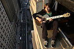 NEW YORK - JUNE 9, 2003:  Singer Evan Dando, best known for fronting the Lemonheads, poses for a portrait on the ledge of his lower Manhattan apartment on June 9, 2003 in New York City.  (PHOTOGRAPH BY MICHAEL NAGLE)