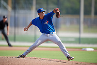 Toronto Blue Jays starting pitcher Graham Spraker (87) delivers a pitch during an Instructional League game against the Pittsburgh Pirates on October 14, 2017 at the Englebert Complex in Dunedin, Florida.  (Mike Janes/Four Seam Images)