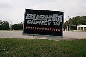 Pinecrest, Florida.USA.October 28, 2004..Bush - Cheney sign with nazi swastika.