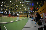 GER - Luebeck, Germany, February 06: During the 1. Bundesliga Damen indoor hockey semi final match at the Final 4 between Berliner HC (blue) and Duesseldorfer HC (red) on February 6, 2016 at Hansehalle Luebeck in Luebeck, Germany. Final score 1-3 (HT 0-1). (Photo by Dirk Markgraf / www.265-images.com) *** Local caption ***
