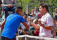 Paris, France, 25 June, 2016, Tennis, Roland Garros,  Igor Sijsling (NED) (R) congratulates Nick Kyrgios (AUS) with his win<br /> Photo: Henk Koster/tennisimages.com