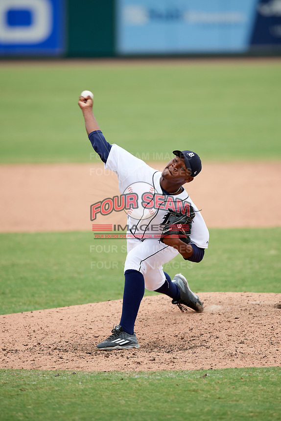Detroit Tigers pitcher Sandel De La Cruz (70) delivers a pitch during an Instructional League game against the Toronto Blue Jays on October 12, 2017 at Joker Marchant Stadium in Lakeland, Florida.  (Mike Janes/Four Seam Images)