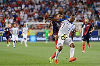 Harrison, NJ - Friday July 07, 2017: Johan Venegas, Ever Alvarado during a 2017 CONCACAF Gold Cup Group A match between the men's national teams of Honduras (HON) vs Costa Rica (CRC) at Red Bull Arena.
