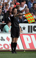 Pictured: Assistand referee Sian Massey. Saturday 07 May 2011<br /> Re: Swansea City FC v Sheffield United, npower Championship at the Liberty Stadium, Swansea, south Wales.
