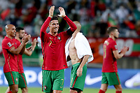 1st September 2021; Faro, Algarve, Portugal:  Portugals Cristiano Ronaldo  celebrates after scoring a goal at the FIFA World Cup,  2022 European qualifying round group A football match between Portugal and Ireland in Faro, Portugal
