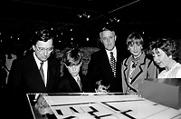 File Photo - Quebec Premier Robert Bourassa , Canada Prime Minister Brian Mulroney<br /> and Montreal Mayor Jean Dore attend<br /> Montreal 350th anniversary kick off celebrations, May 17, 1992, at Place-d-armes,<br /> <br />  Photo :  Agence Quebec Presse- Pierre Roussel