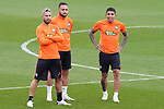 FC Shakhtar Donetsk's Marlos, Maycon and Dodo during training session. October 16,2017.(ALTERPHOTOS/Acero)