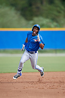 Toronto Blue Jays right fielder Josh Palacios (14) runs the bases during an Instructional League game against the Philadelphia Phillies on October 7, 2017 at the Englebert Complex in Dunedin, Florida.  (Mike Janes/Four Seam Images)