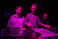 """Hio Hop-Abend """"Kon – fett – i"""" am Donnerstag den 24. August 2018 im Kreuzberger Club SO36 mit dem Rapper, Graf Fidi aus Berlin; der Berliner Gebaerden-Rapperin DKN; der Hip-Hop-Kuenstlerin Finna aus Hamburg und dem DJ Team """"Skips and Breaks"""" (im Bild). Die Liveauftritte wurden von Gebaerdendolmetscherinnen uebersetzt.<br /> Ziel der Veranstaltung war es, Kuenstlerinnen und Kuenstler und DJs mit und ohne Behinderung gleichberechtigt eine Buehne zu bieten. Unterstuetzt wurde die Veranstaltung vom Music Board Berlin.<br /> 24.8.2018, Berlin<br /> Copyright: Christian-Ditsch.de<br /> [Inhaltsveraendernde Manipulation des Fotos nur nach ausdruecklicher Genehmigung des Fotografen. Vereinbarungen ueber Abtretung von Persoenlichkeitsrechten/Model Release der abgebildeten Person/Personen liegen nicht vor. NO MODEL RELEASE! Nur fuer Redaktionelle Zwecke. Don't publish without copyright Christian-Ditsch.de, Veroeffentlichung nur mit Fotografennennung, sowie gegen Honorar, MwSt. und Beleg. Konto: I N G - D i B a, IBAN DE58500105175400192269, BIC INGDDEFFXXX, Kontakt: post@christian-ditsch.de<br /> Bei der Bearbeitung der Dateiinformationen darf die Urheberkennzeichnung in den EXIF- und  IPTC-Daten nicht entfernt werden, diese sind in digitalen Medien nach §95c UrhG rechtlich geschuetzt. Der Urhebervermerk wird gemaess §13 UrhG verlangt.]"""