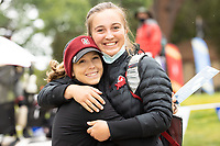 STANFORD, CA - APRIL 25: Rachel Heck, Rebecca Becht at Stanford Golf Course on April 25, 2021 in Stanford, California.