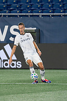 FOXBOROUGH, UNITED STATES - AUGUST 20: Jack Elliott #3 of Philadelphia Union during a game between Philadelphia Union and New England Revolution at Gilette on August 20, 2020 in Foxborough, Massachusetts.