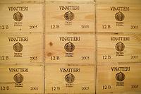 "Switzerland. Canton Ticino. Ligornetto. Firm ""Vinattieri Ticinesi"", owned by Luigi Zanini, wine grower and producer. © 2008 Didier Ruef"