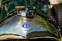 BNPS.co.uk (01202 558833)<br /> Pic: Bonhams/BNPS<br /> <br /> Pictured: The Bentley badge.<br /> <br /> A classic 1926 Bentley owned by Pink Floyd's former manager Steve O'Rourke is tipped to sell for a staggering £600,000.<br /> <br /> The immaculate six and a half litre tourer with dark green paint work and a leather interior was added to his extensive collection in 1980.<br />  <br /> As well as being a famous manager, he was a prolific motor-sport enthusiast known for racing with band members including drummer Nick Mason and guitarist David Gilmour.