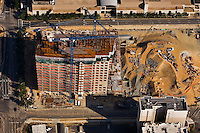 Aerial photo of construction of the new NASCAR Hall of Fame structure in Charlotte. Photo taken May 2008.
