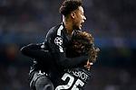Paris Saint-Germain's Neymar Jr (l) and Adrien Rabiot celebrate goal during Champions League Round of 16 1st leg match. February 14,2018. (ALTERPHOTOS/Acero)