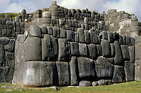 Sacsayhuaman, Cuzco, Peru - Stonework in Wall of Fortress