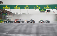 10th October 2021; Formula 1 Turkish Grand Prix 2021 Race Day Istanbul Park Circuit, Istanbul Turkey; BOTTAS Valtteri fin, Mercedes AMG F1 GP W12 E Performance at the start ahead of 33 VERSTAPPEN Max nld, Red Bull Racing Honda RB16B at the first corner of the race
