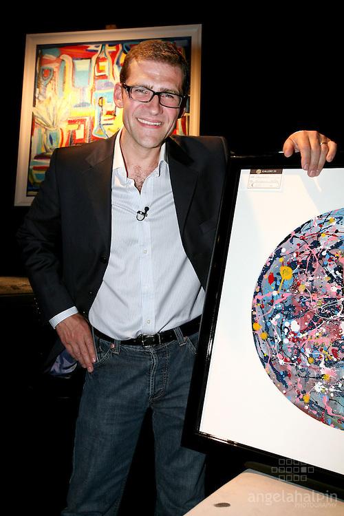 "Nick Munier at the launch of ""Nick Munier"" Art Exhibition at Andrews Lane Theatre. Fri 26th June 2006"