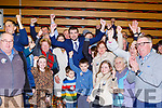 Brendan Griffin celebrates after he was elected  at the count in Killarney on Monday evening