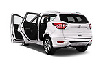 Car images close up view of a 2017 Ford Kuga Vignale 5 Door SUV doors