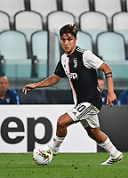 Calcio, Serie A: Juventus - Lazio, Allianz Stadium, July 20, 2020.<br /> Juventus' Paulo Dybala in action with  (r) during the Italian Serie A football match between Juventus and Lazio at the Allianz stadium in Turin, July 20, 2020.<br /> UPDATE IMAGES PRESS/Isabella Bonotto