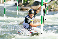 5th September 2021; Parc Olimpic del Segre, La Seu D'Urgell ICF Slalom World Cup, Men's Canoe Final;  Flavio Micozzi (ITA)