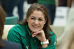 Fiona Coughlan of Ireland at the official launch of the RBS Six Nations rugby tournament at the Hurlingham Club in London..