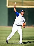 Fort Worth Cats Infielder Derek Kinzler (26) in action during the American Association of Independant Professional Baseball game between the Amarillo Sox and the Fort Worth Cats at the historic LaGrave Baseball Field in Fort Worth, Tx. Fort Worth defeats Amarillo 5 to 3.