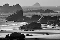 Rocks and ocean at Harris Beach State Park, Oregon