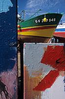 Europe/France/Bretagne/29/Finistère/Le Guilvinec-Lechiagat: Le chantier naval - Jeux de couleurs