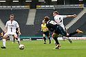 Luke Freeman of Stevenageis blocked by Lee Hodson of MK Dons<br />  - MK Dons v Stevenage - Sky Bet League One - Stadium MK, Milton Keynes - 28th September 2013. <br /> © Kevin Coleman 2013
