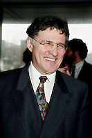 Quebec City(Qc) CANADA -April 2nd 1998<br /> -File Photo -<br /> Paul Begin, quebec environment Minister arrive at Reseau Environnement 1998  Convention in Quebec City.<br /> <br /> <br /> Paul Begin (born May 15, 1943 in Dolbeau, Quebec) is a former Quebec politician and Cabinet Minister. Member of the Parti Québecois, he served as the province's Justice Minister from 1994 to 1997 and from 2001 to 2002. Louis-Hébert riding in the 1994 elections when the Parti Québecois re-claimed power after 9 years of Liberal governance under Robert Bourassa and Daniel Johnson Jr.. During his political career, he was also a member of Cabinet, being first named for the first time as Justice Minister in the Jacques Parizeau (and later Lucien Bouchard)Cabinet from 1994 to 1997. He was also the Environment Minister from 1997 to 2001, Minister of Wildlife from 1997 to 1998 and Minister of Revenue from 1999 to 2001 before being re-named as Justice Minister in the Bernard Landry Cabinet for his final year until he sat as an Independent MNA in 2002. He did not seek a third mandate in the 2003 elections.