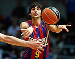 FC Barcelona's Ricky Rubio during ACB Supercup Final match.September 25,2010. (ALTERPHOTOS/Acero)