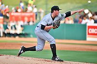 Southern Divisions pitcher John Gavin (28) of the Augusta GreenJackets delivers a pitch during the South Atlantic League All Star Game at First National Bank Field on June 19, 2018 in Greensboro, North Carolina. The game Southern Division defeated the Northern Division 9-5. (Tony Farlow/Four Seam Images)